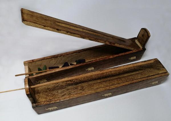 Räucherwerkbox aus Mangoholz