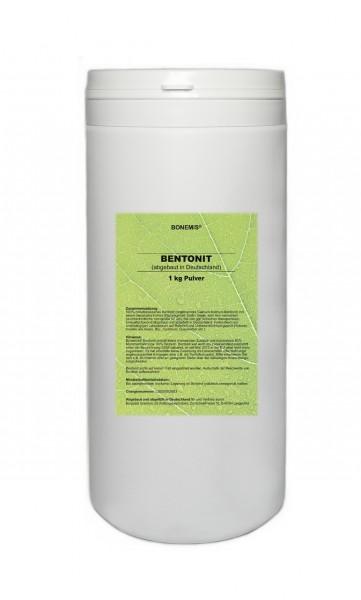 Bonemis® Bentonit aus deutschem Abbaugebiet, 1 kg ultrafeines Pulver in PE-Dose