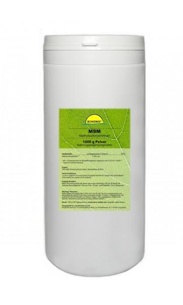 Bonemis® Premium MSM Pulver, 1 kg in PE-Dose
