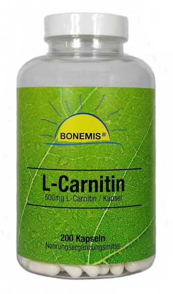 Bonemis® L-Carnitin, 200 Kapseln à 500 mg