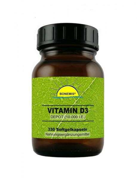 Bonemis® Vitamin D3 Depot, 330 Softgelkapseln à 10.000 (I.E.)