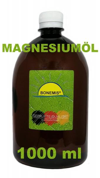Bonemis® Magnesiumöl aus MgCl2 (Ph.Eur.) und Aqua Bidest, 1000 ml in PET-Flasche (braun)