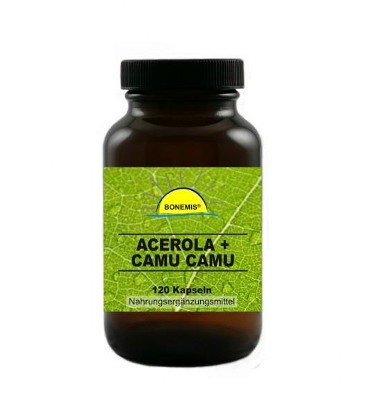 Bonemis® Acerola + Camu Camu, natürliches Vitamin C ohne Zusatzstoffe, 120 hochdosierte Kapseln
