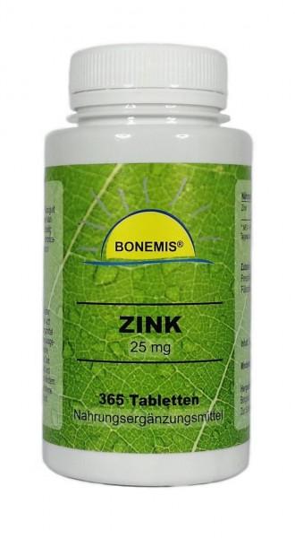 Bonemis® Zink, 365 Tabletten à 25 mg (Vorrat für 365 Tage)