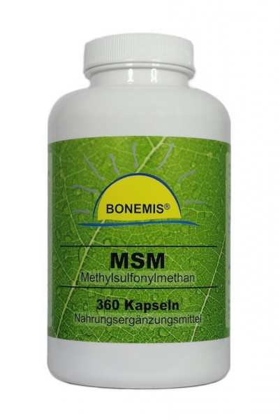 Bonemis® MSM, 360 Kapseln à 400 mg, Premium-MSM (99,95% Reinheitsgrad)