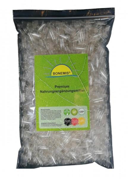 Leerkapseln, Größe 0, transparent, HPMC (vegan / vegetarisch / halal / kosher), 1000 Stück im Beutel
