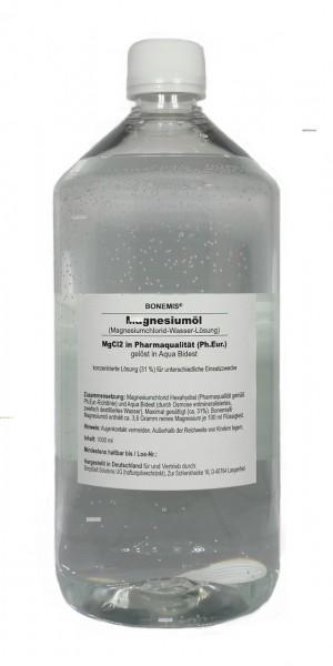 Bonemis® Magnesiumöl aus MgCl2 (Ph.Eur.) und Aqua Bidest, 1000 ml in PET-Flasche