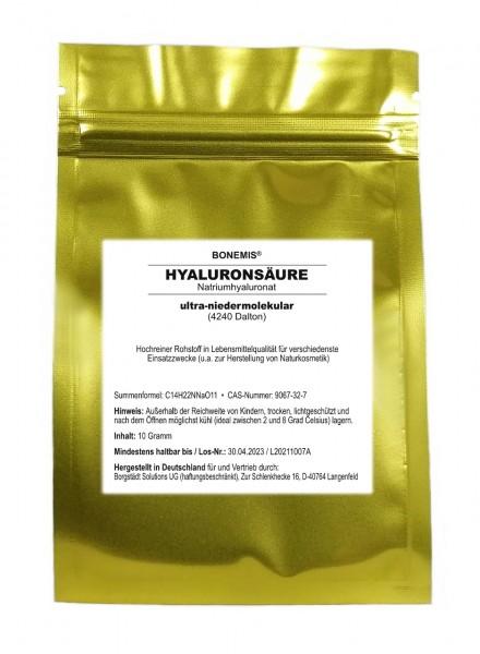 Bonemis® Hyaluron (Anti-Aging-Creme selber machen), Rohstoff für Naturkosmetik, 10 g im Beutel