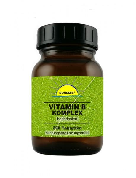 Bonemis® Vitamin B Komplex (hochdosiert), 250 vegane Tabletten