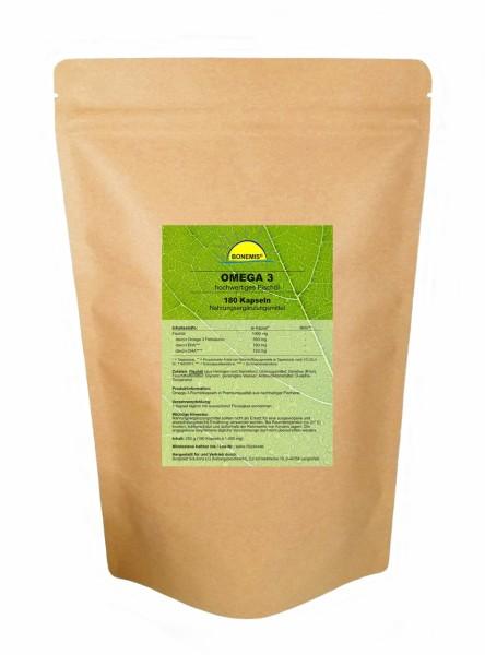 Bonemis® Omega 3, 180 Kapseln hochwertiges Fischöl à 1000 mg im Beutel