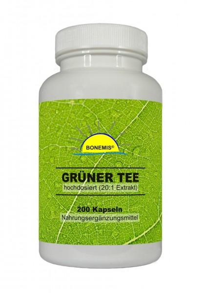 Bonemis® Grüner Tee Extrakt (hochdosiert, 20:1), 200 Kapseln
