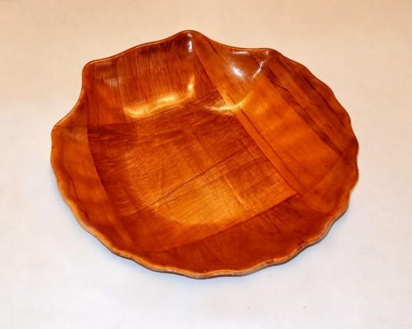 Schale in Muschelform (amerikanisches Pappelholz), 15 cm