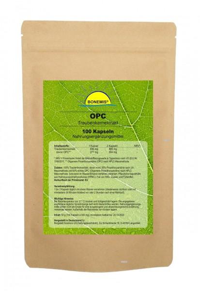 Bonemis® OPC, 100 Kapseln à 440 mg, 95% Premium-OPC (63% nach HPLC)