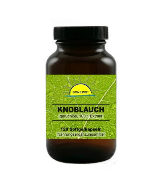 Bonemis® Knoblauchextrakt, geruchlos, hochdosiert (100:1), 120 Softgelkapseln (für 4 Monate)