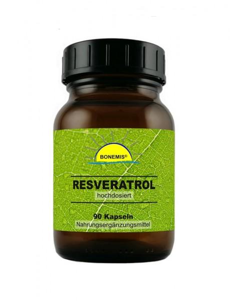 Bonemis® Resveratrol *PROBIERPREIS* (hochdosiert, hoch bioverfügbar), 90 Kapseln à 450 mg
