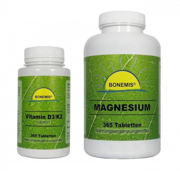 Sonnenvitamin Essentials (Vitamin D3, Vitamin K2 und Magnesium im Sparpack)