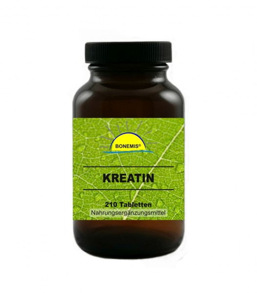 Bonemis® Kreatin, 210 vegane Tabletten, ohne unerwünschte Zusätze