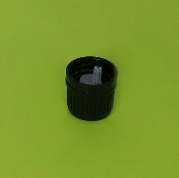 Deckel mit Tropfereinsatz für 100 ml Braunglasflasche (18 mm)
