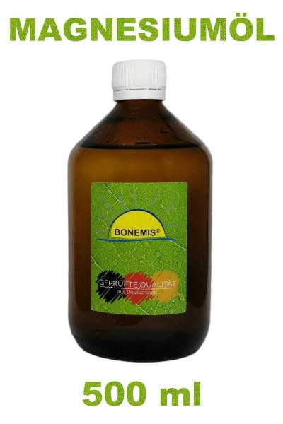 Bonemis® Magnesiumöl aus MgCl2 (Ph.Eur.) und Aqua Bidest, 500 ml in Braunglasflasche