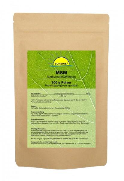Bonemis® Premium MSM Pulver, 300 g im Beutel