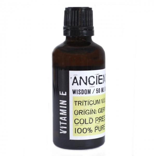 Vitamin E-Öl (Weizenkeimöl Triticum Vulgare), kaltgepresst, 100% natürlich, 50 ml